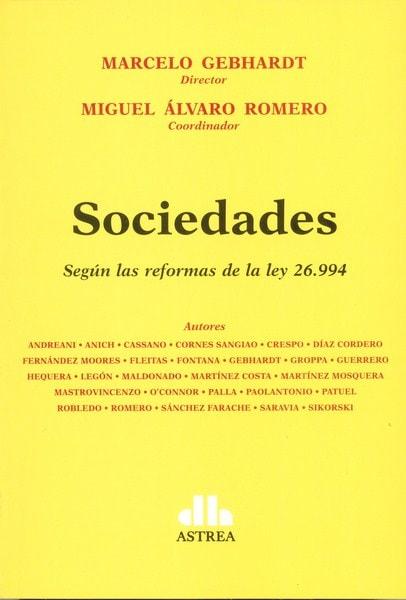 Sociedades. Según las reformas de la ley 26.994 - Verónica L. Andreani - 9789877061000