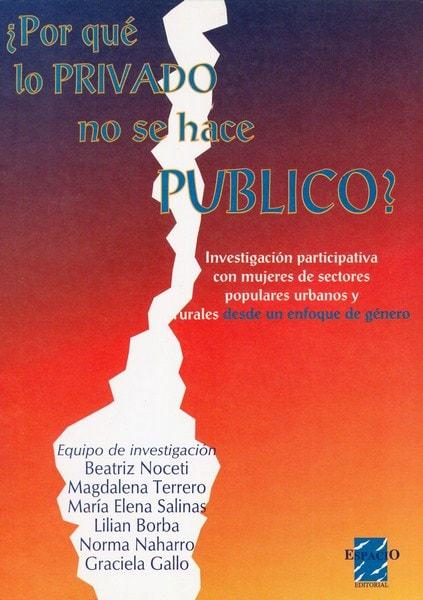 Libro: ¿por qué lo privado no se hace público?  - Autor: Beatriz Noceti - Isbn: 9508020717