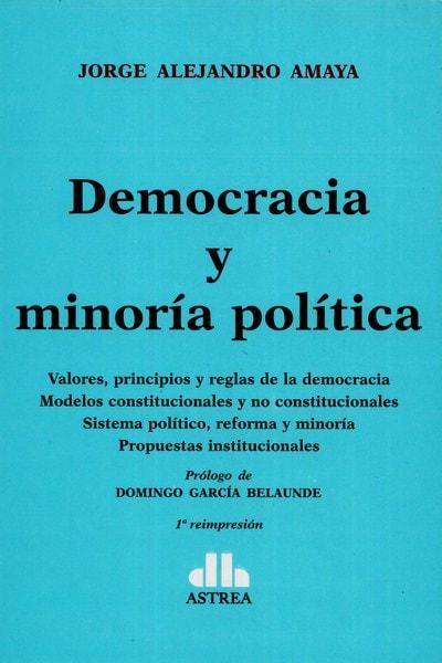Libro: Democracia y minoría política - Autor: Jorge Alejandro Amaya - Isbn: 9789877060270