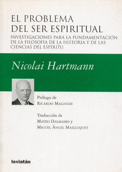 Libro: El problema del ser espiritual - Autor: Nicolai Hartmann - Isbn: 9789875141230