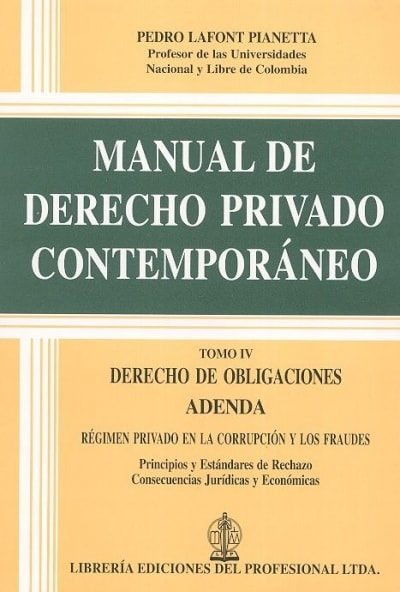 Manual de derecho privado contemporáneo Tomo IV