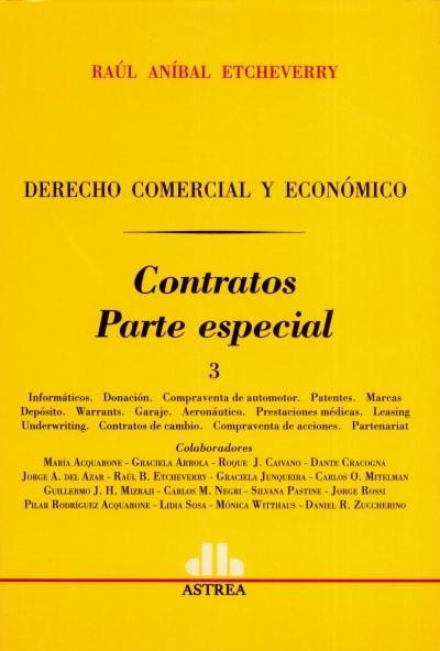 Libro: Contratos. Parte especial 3   Autor: Raúl Aníbal Etcheverry   Isbn: 9505085397