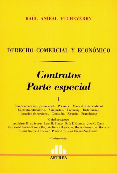 Libro: Contratos. Parte especial 1 | Autor: Raúl Aníbal Etcheverry | Isbn: 950508336X
