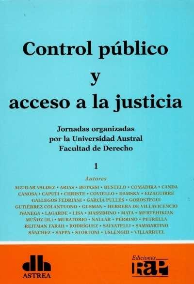 Libro: Control público y acceso a la justicia. Tomo I - II | Autor: Oscar Aguilar Valdez | Isbn: 9789877061284