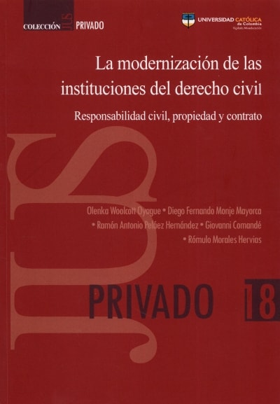 Libro: La modernización de las instituciones del derecho civil | Autor: Olenka Woolcott Oyague | Isbn: 9789585456556