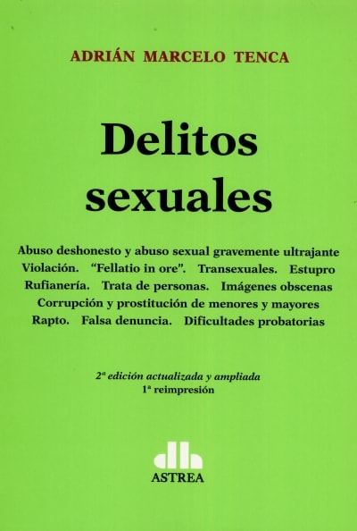 Delitos sexuales  - Adrián Marcelo Tenca - 9789505085532