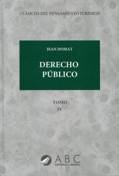 Libro: Derecho público | Autor: Jean Domat | Isbn: 9789585857551