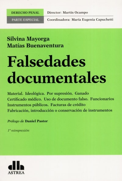 Libro: Falsedades documentales | Autor: Silvina Mayorga