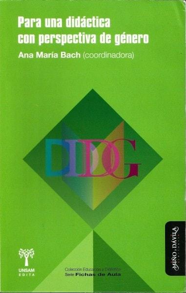 Para una didáctica con perspectiva de género - Ana María Bach - 9788415295884