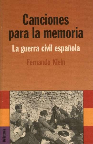 Libro: Canciones para la memoria | Autor: Fernando Klein | Isbn: 9788472904064