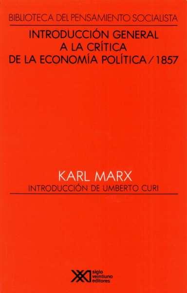 Introducción general a al crítica de la economía política