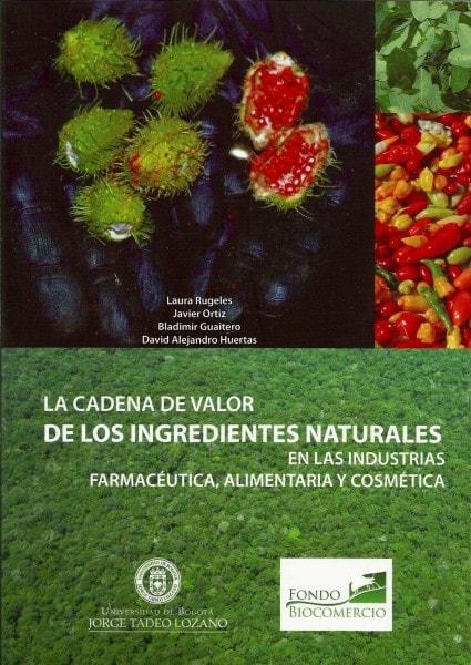 La cadena de valor de los ingredientes naturales en las industrias farmacéutica.Alimentaria y cosmética - Laura Rugeles - 9789587250954