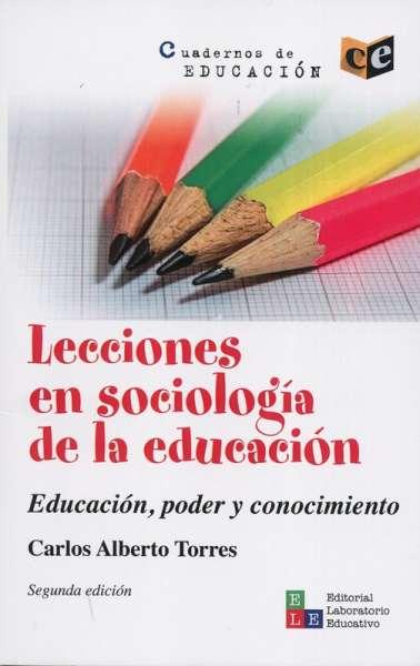 Lecciones en sociología de la educación