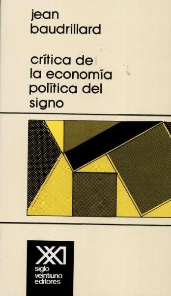 Crítica de la economía política del signo