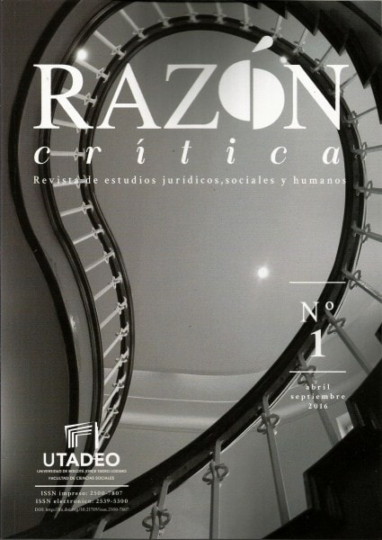 Razón crítica. Revista de estudios jurídicos. Sociales y humanos no. 1 - Facultad de Ciencias Sociales - 25007807