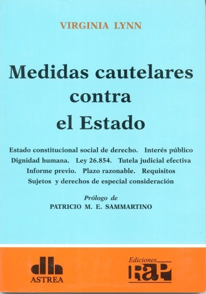 Medidas cautelares contra el estado - Virginia Lynn - 9789877060928
