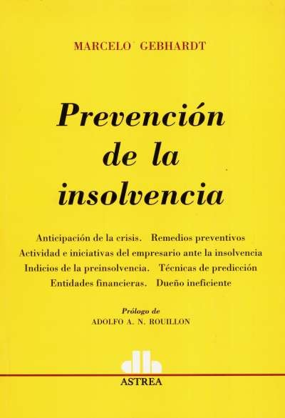 Prevención de la insolvencia - Marcelo Gebhardt - 9789585758509